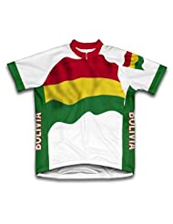 Bolivia Flag Short Sleeve Cycling Jersey for Women