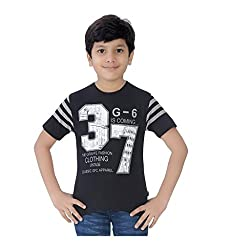 Mint Black Cotton Boy's t-shirt