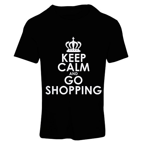 N4579F-Camiseta-mujer-Keep-Calm-and-Go-Shopping-Small-Negro-Blanco