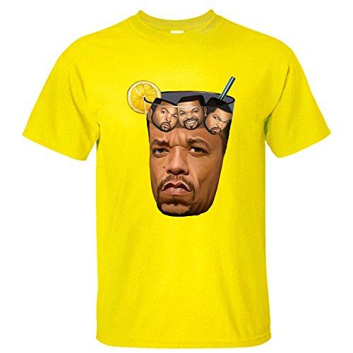 CYKK Mens Got Tea Ice Cube T Shirt yellow M (Got Ice compare prices)