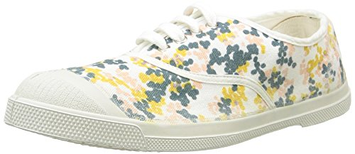 Bensimon Donna Tennis Plumetis Low-Top Sneaker, multicolore (Multicolor (101 Blanc)), 38,5 EU-39 EU