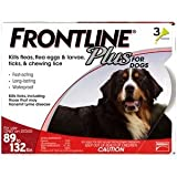 Frontline Plus 3pk Dogs 89-132 Pounds (Red Box)