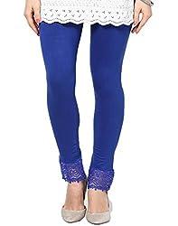 Castle Royal Blue Lace Leggings