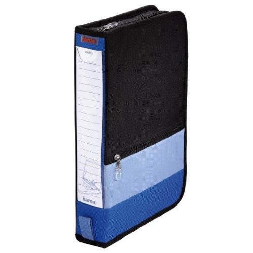 Hama-Office-Wallet-64-CD-Tasche-im-Bro-Ordner-Design-fr-bis-zu-64-CDs-blau-schwarz
