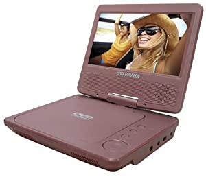 Sylvania SDVD7014-MPINK Portable 7-Inch  Widescreen DVD Player