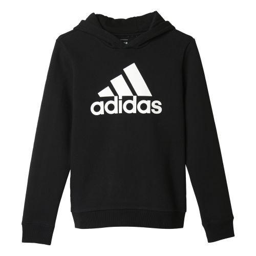 Adidas Yb Ess Logo Felpa, Nero (Nero/Bianco), 164