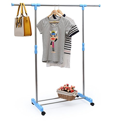 Aojia Hanging Clothes Rack Clothes Drying Rack Hanging Clothes Rack Hanging Rack Heavy Duty Rack Garment Rack Heavy Duty Clothing Rack Adjustable Garment Rack Collapsible Garment Rack Rolling Garment Rack Portable Garment Racks Adjustable Rack Garment Han front-409799