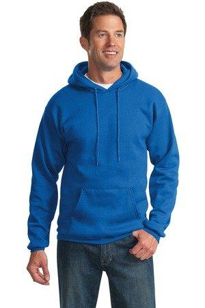 Port Company Classic Pullover Hooded Sweatshirt. - Large - Royal