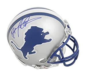 Barry Sanders Detroit Lions Autographed Replica Mini Helmet - Memories - Mounted... by Sports Memorabilia