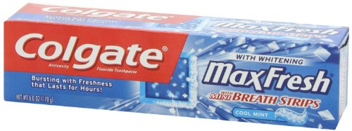 Colgate Max Fresh Toothpaste With Mini Breath Strips, Cool Mint, 6 Ounces front-1002153