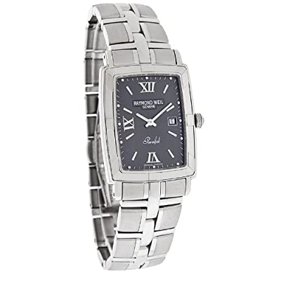 Raymond Weil Parsifal Mens Gray Stainless Steel Swiss Quartz Watch 9341-ST-00607 from Raymond Weil