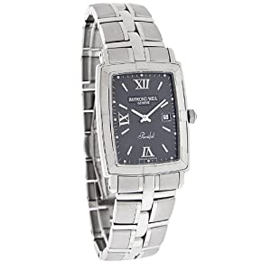 Raymond Weil Parsifal Mens Gray Stainless Steel Swiss Quartz Watch 9341-ST-00607