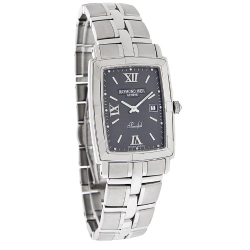 Raymond Weil Parsifal Mens Gray Stainless Steel Swiss Quartz Watch 9341-ST-00607