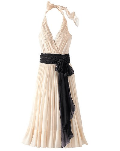 Pleated halter dress by Newport News