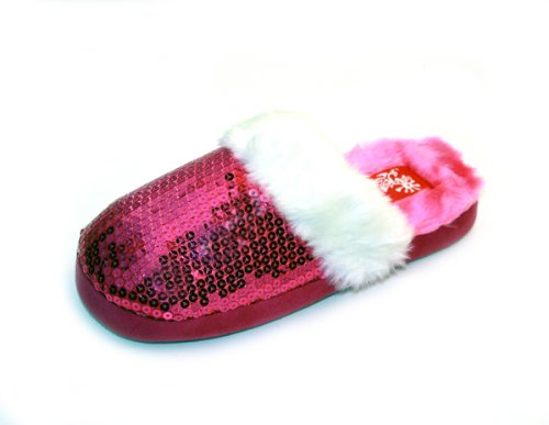Image of Luckers Women's Fuchsia Sequin Slippers (B008R0BX8S)