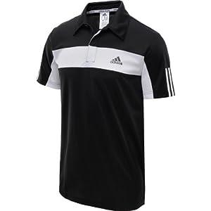 Buy Adidas Mens Tennis Galaxy Polo (BlackWhite) by adidas