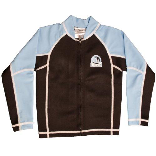 Baby Banz Boys Warmeez L/S Zip Up Rashguard, Blue/Black, 12-18 Months front-1054736
