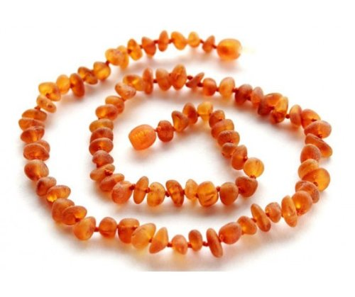 Bouncy Baby Boutiquetm - An31 - Adult Raw Honey Certified Authentic Baltic Amber Healing Necklace front-1032150