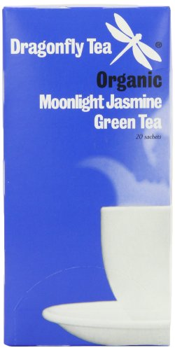 Dragonfly Tea Organic Moonlight Jasmine Green 20 Teabags (Pack of 4, Total 80 Teabags)