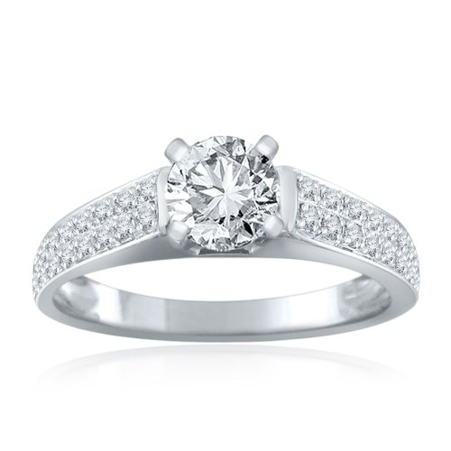 Sterling Silver Simulated Diamond Wedding Ring-1.00ct