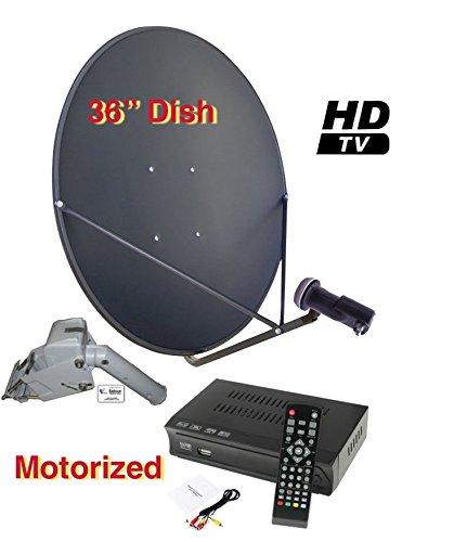 "Sadoun M-1 36"" Motorized FTA Complete HD/DVR Satellite System Free to Air"