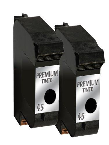 Druckerpatrone Drucker Patrone für 2x HP 45 Tintenpatrone DeskJet 970C, 970CSE, 970CXI, 980C, 980CXI, 990C, 990CM, 990CSE, 990CXI, 995C