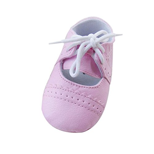 Weixinbuy Baby Girl PU Leather Breathable British Style Soft Shoes