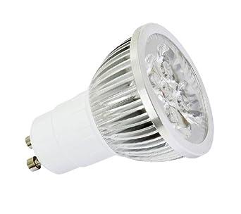 trio leuchten power led leuchtmittel gu10 fassung 4x1 5w 3100k 260 lumen 40000h lebensdauer. Black Bedroom Furniture Sets. Home Design Ideas