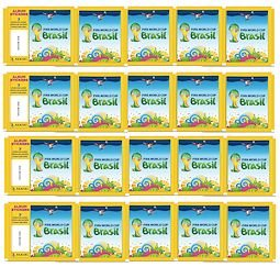 20 PACKS: 2014 Panini FIFA World Cup Soccer Stickers