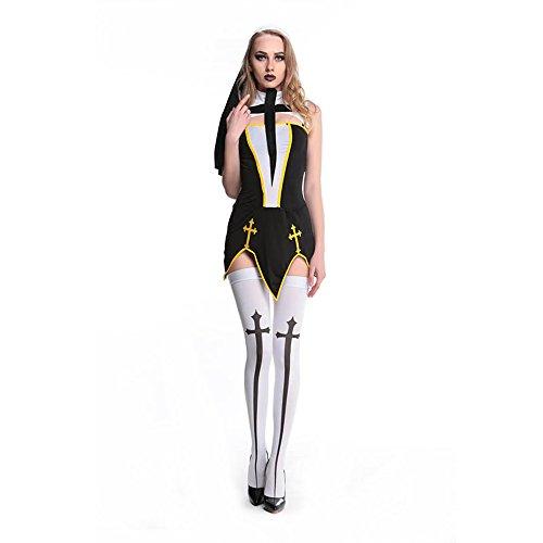 [Lover-baby® Bad Habit Nun Adult Womens Costume L15207] (Bad Habit Nun Costumes)