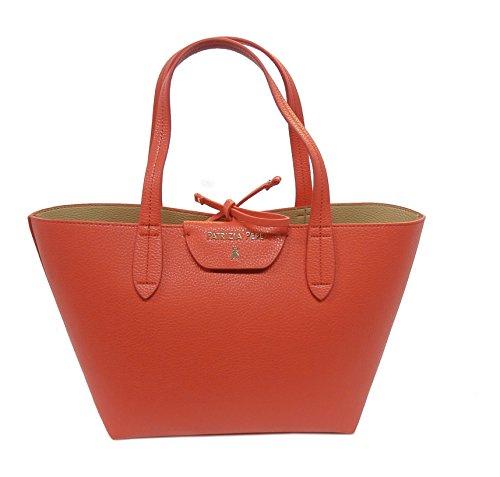 Patrizia Pepe borsa shopping 2V5516 corallo/beige reversibile