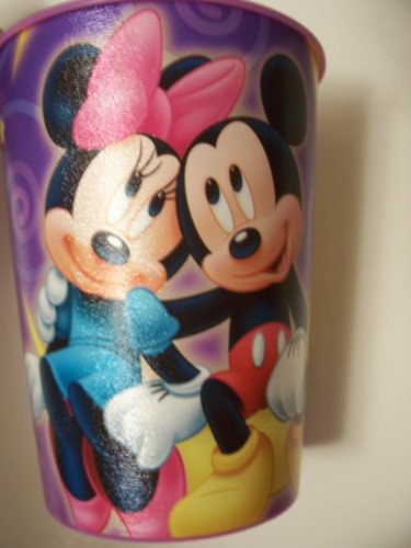 Disney Mickey and Minnie 16 oz Plastic Cup by Hallmark ~ Love with Mickey and Minnie