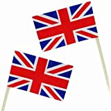 1 PACKUNG mit 50 FLAGGENPICKER ENGLAND PARTY DEKO GROSSBRITANNIEN