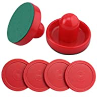 Set of Two Red Air Hockey Pushers and…