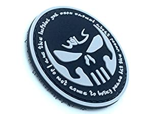 Infidel Punisher Noir PVC Airsoft Velcro Patch