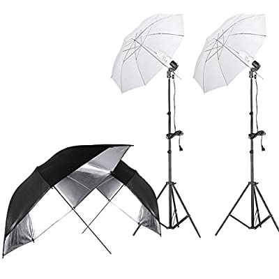 Neewer® 400W 5500K Photo Studio Continuous Lighting Umbrellas Kit