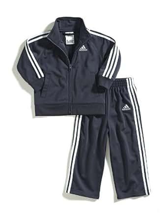 adidas Little Boys' Iconic Tricot Set, Mercury Grey, 6