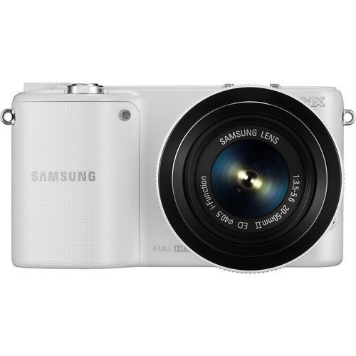 Samsung NX2000 Mirrorless Digital Camera with 20-50mm f/3.5-5.6 Lens (White) (Samsung Nx1000 compare prices)
