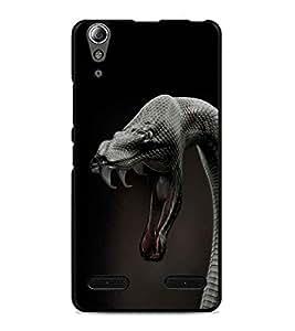 PrintDhaba Anaconda D-1256 Back Case Cover for LENOVO A6000 (Multi-Coloured)
