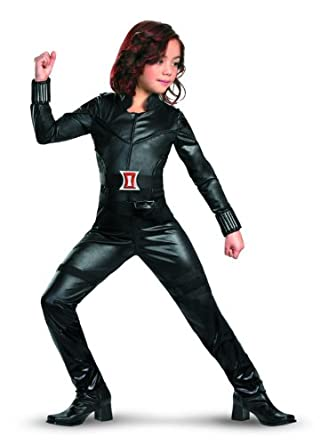 Avengers Black Widow Deluxe Costume, Black, Large