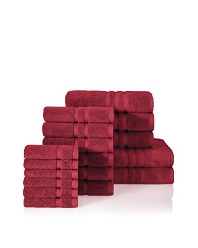 Chortex Irvington 17-Piece Towel Set, Burgundy