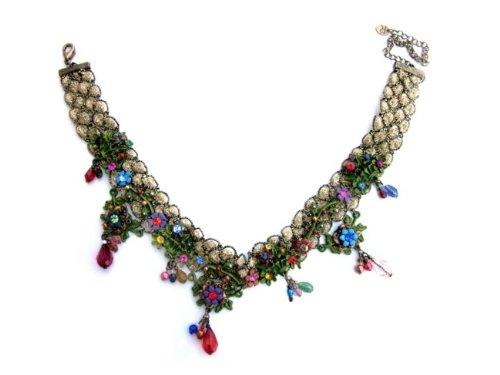 Floral Necklace, Vintage Choker