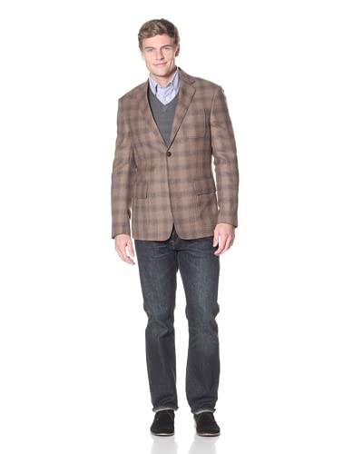 Billy Reid Men's Rustin Plaid Patch Sport Coat