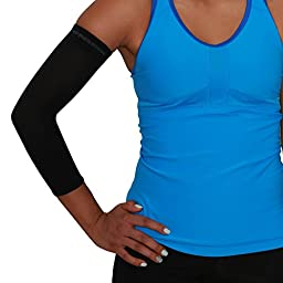 Compression Elbow Sleeve with Copper - Compression Tennis Elbow Sleeve, Tennis Elbow Sleeve, Golfers Elbow, Elbow Tendonitis Relief, Elbow Sleeve Brace, Elbow Sleeve Support (M, Black)