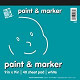 Fun to Be Square 23 x 23 cm Paper Pads Paint and Marker Pad, White