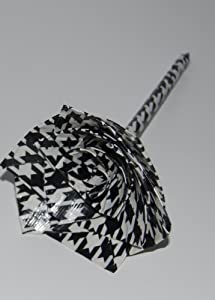 Decorative Flower Pen - Office Gift Idea - Duct Tape Rose Pen - Duct Tape Flower - Black and White Pattern