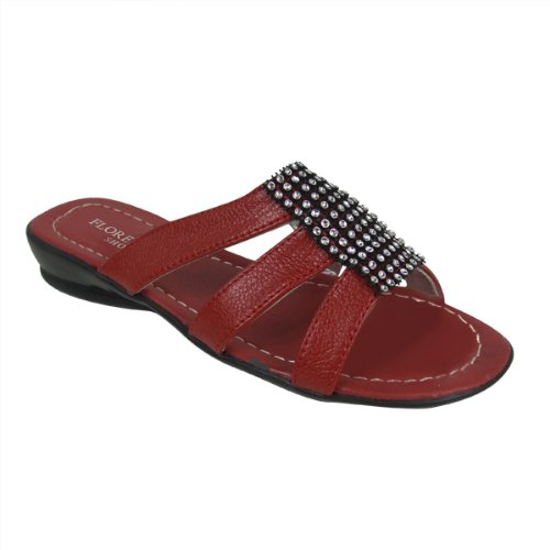 Ladies Faux Leather Wedge Sandals Mules Shoes