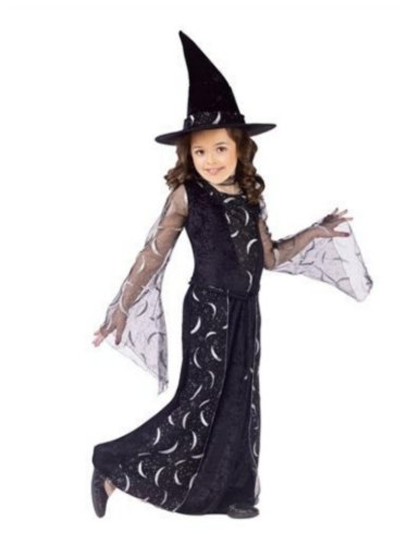 Fun World Costumes Girls Celestial Sorceress Black Witch Dress & Hat