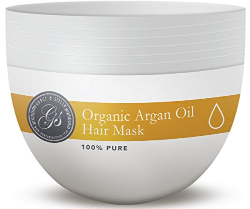 PREMIUM & ORGANIC Argan Oil Hair Mask, Deep Conditioner 8 Oz., 100% Organic Jojoba Oil, Aloe Vera & Keratin, Repair Dry, Damaged Or Color Treated After Shampoo, Best For All Hair Types - Sulfate Free (Wen Lavender Conditioner compare prices)