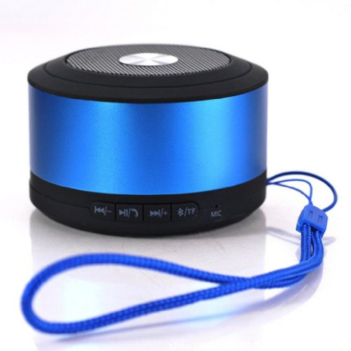 Blue Melody Best Potable Mini Top Rated Stereo Travel Wireless Bluetooth Speaker For Apple Iphone Ipad Ipod Samsung Motorola Philips Laptop Sd Card Bl-N8 Blue